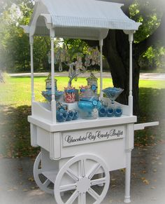 Candy buffet, candy cart, candy bar, candy table.