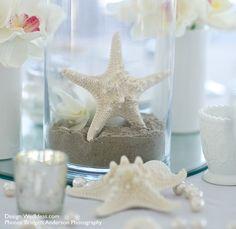 Knobby starfish table centerpeice.