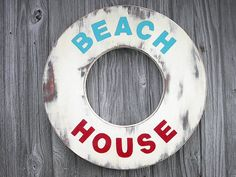 Beach House Sign Lake House Decor by CTheWritingOnTheWall on Etsy, $45.00