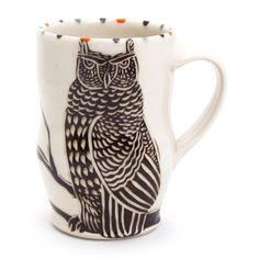 Owl Espresso Cup - The Clay Studio