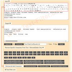 Remove / Delete All Non Alphanumeric Characters ( Commas, Dots, Special Symbols, Math Symbols etc.) From Text.