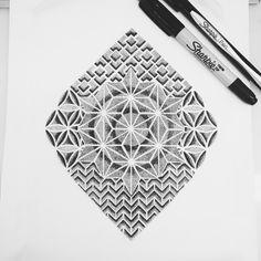 Sacred geometry shapes #blackspottattooco #sacredgeometry #dotwork #sketches #sharpie