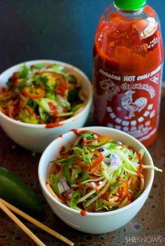 Sriracha udon noodle bowls recipe