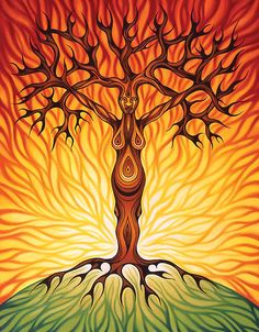 """""""Goddess of Fire"""" by Sarah Jane Bingham    """"Fire, source of all power,  Uncontrollably free,  Your captivating flames tower  And conquer even the tallest tree.  Ruler of creation and destruction,  Guide us through transformation."""""""