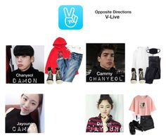 """Opposite Directions • V-LIVE"" by pc-blue ❤ liked on Polyvore featuring SWEAR, J.Crew, DRKSHDW, WithChic and Yeah Bunny"