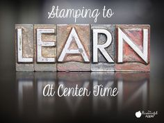 How to integrate stamping into center time.