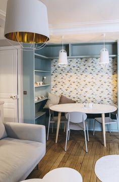 A Parigi, un pied-à-terre di 52 mq in stile nordico-bon ton // Nordic-bon ton style for this small apartment in Paris • Project: Camille Architectures
