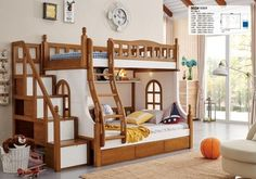 colorful kids cheap wooden bunk bed, cheap kids bunk beds