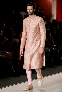 The Renaissance Muse Indian Groom Dress, Wedding Dresses Men Indian, Wedding Dress Men, Wedding Suits, Indian Weddings, Wedding Couples, Wedding Ideas, Mens Sherwani, Sherwani Groom