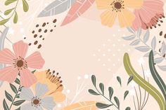 Abstract floral background in flat desig... | Premium Vector #Freepik #vector #background #floral #abstract #flower Wallpaper Für Desktop, Vintage Desktop Wallpapers, Wallpaper Powerpoint, Cute Laptop Wallpaper, Wallpaper Notebook, Macbook Wallpaper, Aesthetic Desktop Wallpaper, Cute Wallpaper Backgrounds, Computer Wallpaper