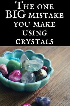 The one BIG mistake you make using crystals Image: Crystals in a dish Text: The one big mistake you Chakra Crystals, Crystals Minerals, Crystals And Gemstones, Stones And Crystals, Wicca Crystals, Chakra Stones, Gem Stones, Crystals In The Home, Crystals For Energy