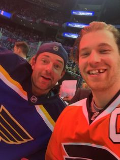 St. Louis Blues goalie Brian Elliott and Philadelphia Flyers center Claude Giroux