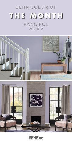 Color of the Month: Fanciful - Colorfully BEHR Behr Paint Colors, Home Decor Inspiration, Paint Colors For Home, Painted Front Doors, Home Decor, Purple Rooms, Behr Colors, Interior Design, House Colors