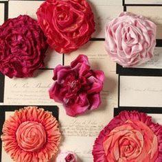beautiful ribbon flowers