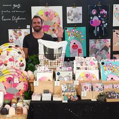"""""""It's today dudes! @bigdesignmarket at the  Royal Exhibition Centre, Carlton.  It's going to be massive! I'm here a part of @enemiesyay with @laurablythman…"""""""