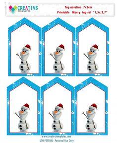 Tag de Natal Frozen Olaf