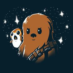 Get officially licensed Star Wars shirts featuring Princess Leia, Chewbacca, Porgs, and more! Star Wars Cartoon, Star Wars Meme, Star Wars Quotes, Star Wars Fan Art, Star Wars Drawings, Star Wars Personajes, Film Disney, Star Wars Wallpaper, Cute Stars