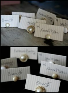 Vintage Look for Place Card Holders