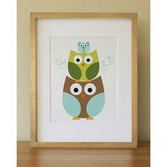Owl . Baby Nursery Wall Art . Children Wall Art - Polyvore