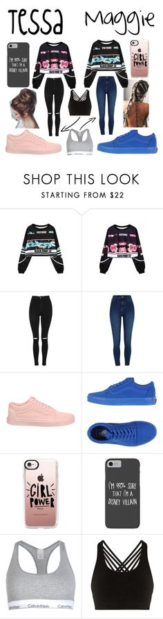 """""""Girl power"""" by annaandemilie on Polyvore featuring RAHUA, WithChic, Topshop, River Island, Vans, Casetify, Disney, Calvin Klein and Pepper & Mayne"""