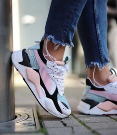 PUMA RS-X TOYS Sneakers from charmvip. Shop more products from charmvip on Wanelo. Pink Nike Shoes, Nike Air Shoes, Pink Nikes, Pumas Shoes, Black Nikes, Nike Air Max, Sneakers Mode, Cute Sneakers, Best Sneakers