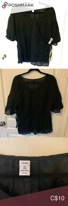 Black linen wrap blouse Black linen wrap blouse, new, never worn Old Navy Tops Blouses Wrap Blouse, Ruffle Blouse, Black Linen, Black Blouse, Navy Tops, Old Navy, Blouses, Best Deals, Things To Sell
