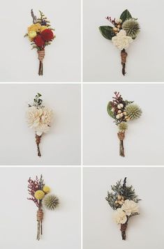 If you're going for a vintage look for your prom or wedding outfit you definitely need one of these preserved flower boutonnieres.