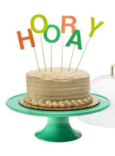 H O O R A Y cake topper http://rstyle.me/n/gvbs9nyg6