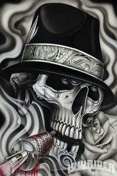 Resultado de imagen para chicano tattoo art and writing Tattoos Skull, Body Art Tattoos, Bone Tattoos, Tattoo Art, Lettrage Chicano, Chicano Drawings, Chicano Tattoos, Girl Drawings, Arte Lowrider