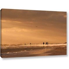 Lindsey Janich Walkers Siesta Key Gallery-Wrapped Canvas, Size: 16 x 24, Silver