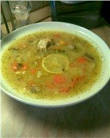 tárkonyos csirkeraguleves Cheeseburger Chowder, Thai Red Curry, Soup, Ethnic Recipes, Soups, Chowder