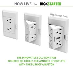 Pop-Up Power Outlet Presents Extra Sockets at the Press of a Button - Floor Outlets, Outlet Extender, Pop Out, Electrical Outlets, Bath Decor, Room Decor, Home Office Decor, Office Ideas, Organization Hacks