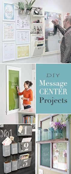 DIY Message Center Projects • Awesome ideas and Tutorials! Kitchen Organization Wall, Message Board, Messages, Ideas, Message Passing, Text Posts, Thoughts, Text Conversations