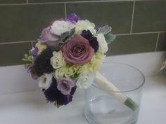 Wedding bouquet purple white