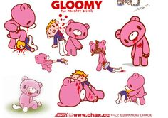 The gloomy bear is his most famous character, followed by Podolly and Kumakikai. Description from jikii.blogspot.com. I searched for this on bing.com/images