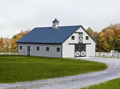 Modular Horse Barn Designs Price includes Stalls, and Board and Batten Finish North Country Sheds, Country Barns, Horse Barns, Horses, Horse Barn Designs, Run In Shed, Small Barns, Hobby Farms