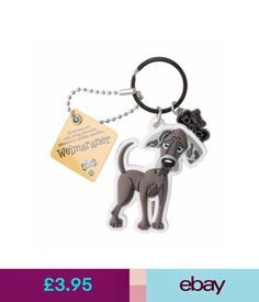 Plaques & Signs Weimaraner 3D Key Ring Bag Charm Tag Dog Lovers Gift Stocking Filler #ebay #Home & Garden
