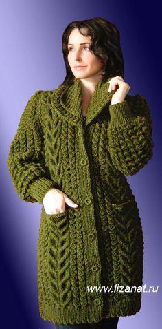 Ladies Cardigan Knitting Patterns, Cardigan Pattern, Crochet Cardigan, Knit Patterns, Tunic Sweater, Knit Fashion, Fashion Outfits, Woman Fashion, Knitted Coat