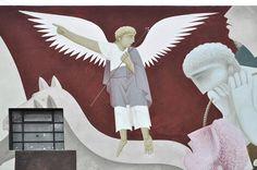 detail of mural 'NOMADS' meters) by Greek artist Φίκος in Queretaro, Mexico Magnified Images, Installation Street Art, Greek Gods, Street Artists, Conceptual Art, Graffiti, Moose Art, Artsy, Wall Art