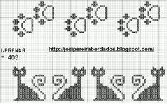 Este esquema puede orientar en la realización del bolso blanco y negro de gatos