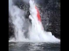 Impressionante cascata di lava (Kamokuna-Hawaii)