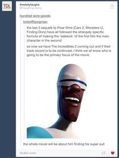 The Incredibles 2- Awww. I was hoping for teen Jack-Jack...