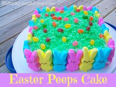 We are in love with this Easter Peeps Cake