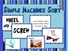 Simple Machines Differentiated Lesson Bundle: Mini Book, Card Sort, Cut & Paste