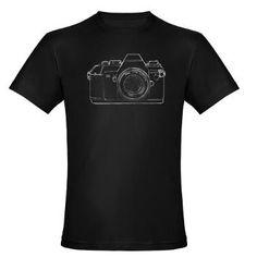 SLR Camera Organic Men's Fitted T-Shirt (dark)