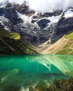 """Location: Humantay Glacier Lake (seen on the Salkantay Trek to Machu Picchu) - Soraypampa, Peru. Photo Credit: @alexandra_dubya"""