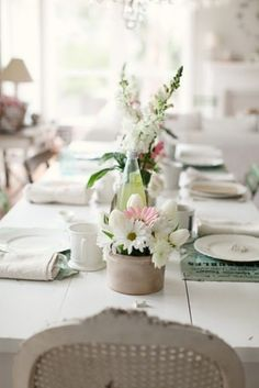 lovely table setting in whites by FutureEdge