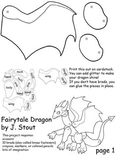 Printable paper dragons for kids - PAPER CRAFTS, SCRAPBOOKING & ATCs (ARTIST TRADING CARDS)