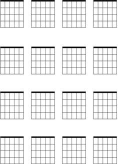 Chord diagrams for guitar printable crafts Ukulele Chord Sheet, Basic Guitar Chords Chart, Free Guitar Chords, Guitar Sheet Music, Ukulele Tabs, Ukulele Chords, Jazz Guitar, Piano Music, Happy Birthday Guitar Chords