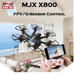 MJX X800 /X800C 2.4G 6-Axis RC Drone Helicopter Can Add C4005 FPV HD Wifi Camera White & Black Syma X5SW X5C
